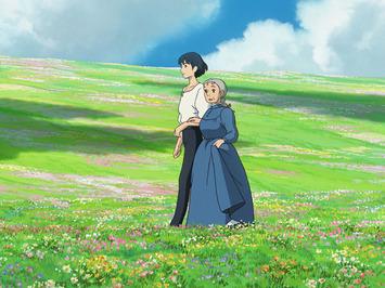 青空と、とても美しい高原の中で