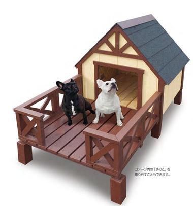愛犬とお庭で過ごす