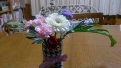小5の女の子が生けたお花