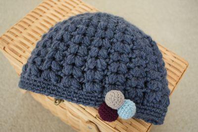 かぎ針編みで編むベレー帽♡編み方・無料編み図 – …