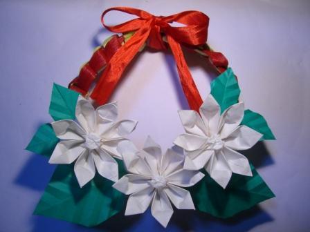 クリスマス 折り紙 折り紙 クリスマスリース : marupee1013.naganoblog.jp