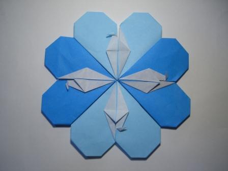 クリスマス 折り紙 折り紙ハートの作り方 : divulgando.net