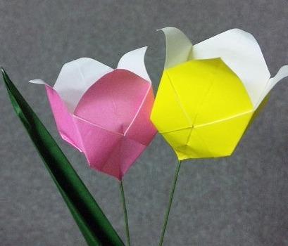 ハート 折り紙:折り紙 チューリップ 作り方-marupee1013.naganoblog.jp