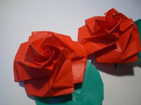 簡単 折り紙 折り紙 バラ 簡単 立体 : marupee1013.naganoblog.jp