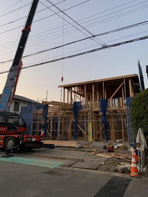長坂建設の家 千曲市杭瀬下で建て方を行いました