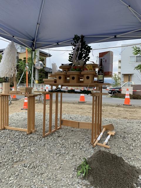 千曲市八幡で地鎮祭をおこないました。