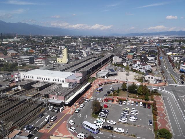 難聴日記・あしたどーなる:塩尻駅を見下ろす