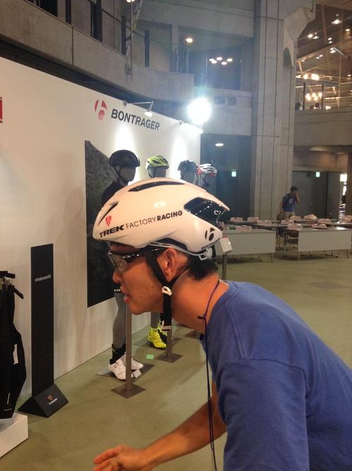 ボントレガー エアロなヘルメット バリスタ