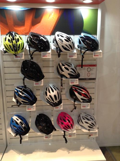 自転車のヘルメットいろいろ