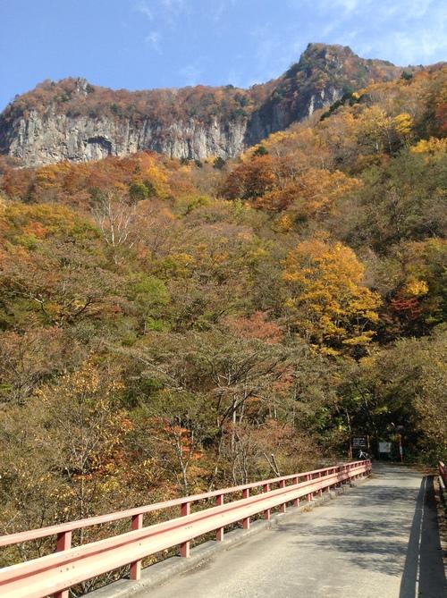 米子の滝に行く道