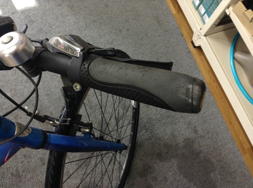 古い自転車グリップ