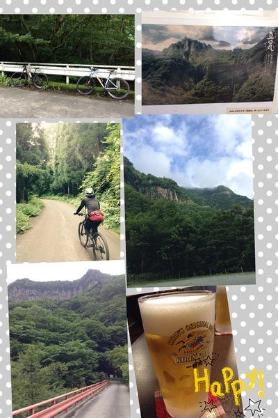須坂米子へ自転車で