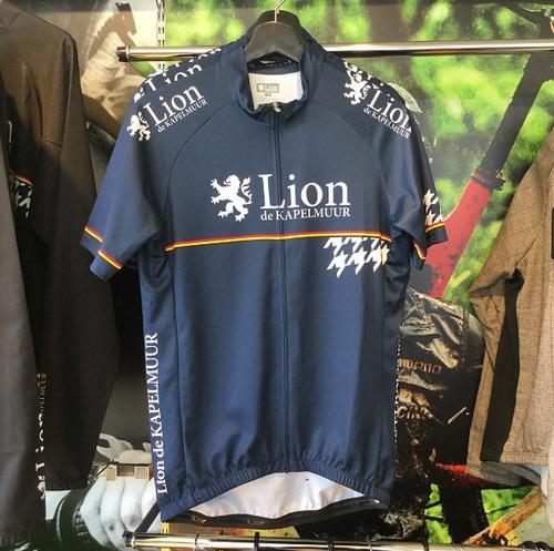 Lion de KAPELMUUR リオン・ド・カペルミュール 半袖ジャージ 千鳥チップ ネイビー
