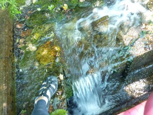 途中の清水