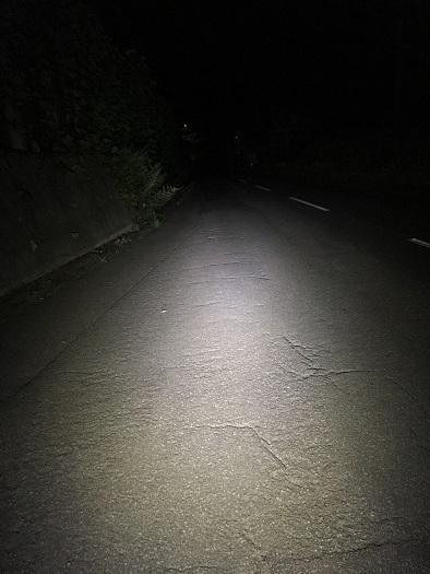 夜ライドはライトが命!前が見えなくなりました(汗