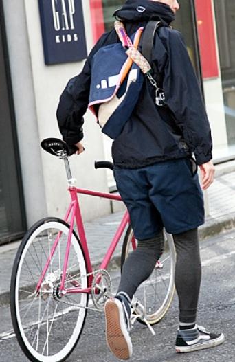自転車とレギンス